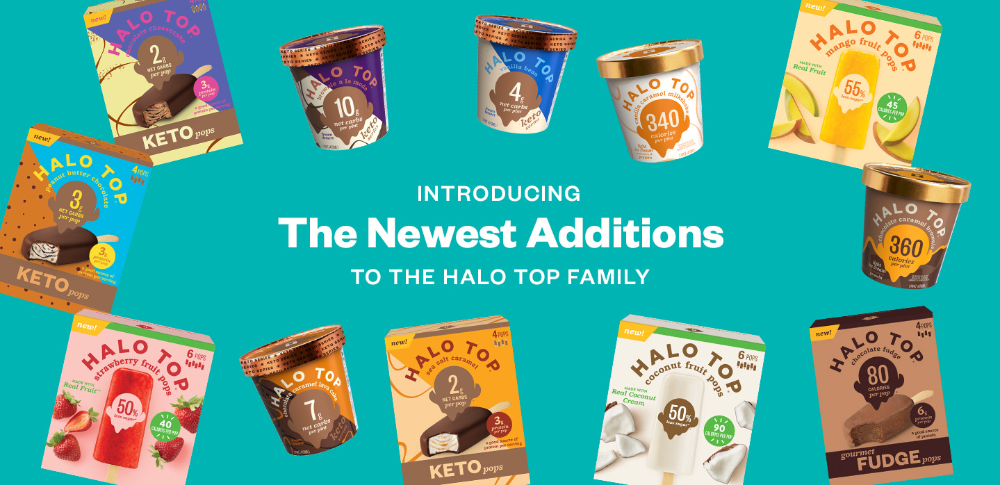 Introducing The Newest Additions To The Halo Top Family