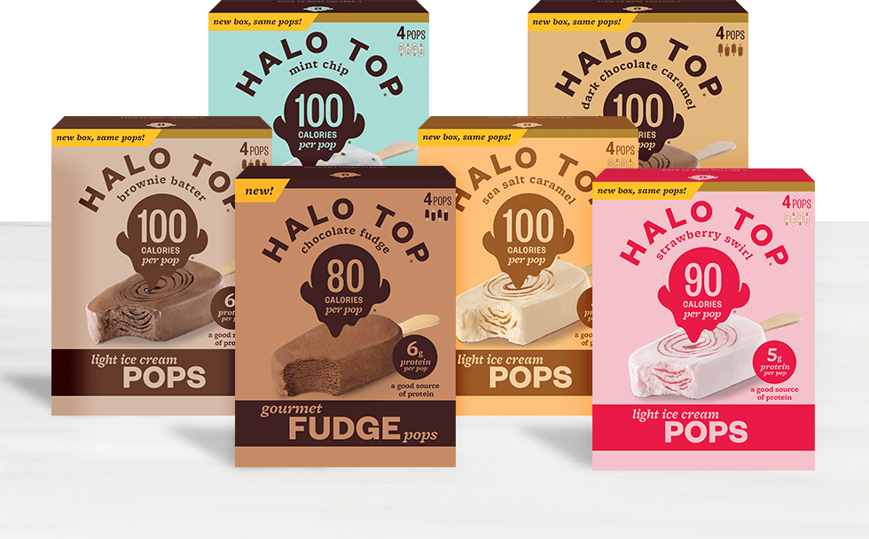 Halo Top Pops flavors